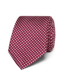 dunkellila gepunktete Krawatte