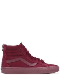 dunkellila hohe Sneakers aus Wildleder von Vans