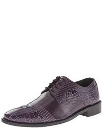 Dunkellila Leder Oxford Schuhe von Stacy Adams