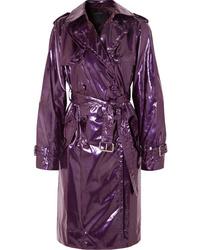 dunkellila Leder Trenchcoat von Marc Jacobs