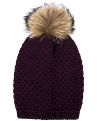 dunkellila Mütze von Inverni