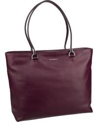 dunkellila Shopper Tasche aus Leder von Coccinelle