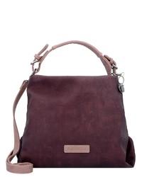 dunkellila Shopper Tasche aus Leder von OTTO
