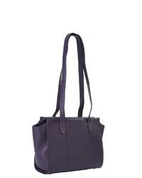 dunkellila Shopper Tasche aus Leder von VOi