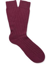dunkellila Socken von Pantherella