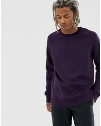 dunkellila Sweatshirt von Weekday
