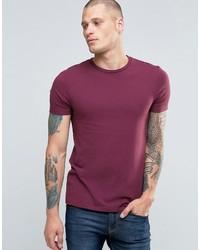 dunkellila T-Shirt mit einem Rundhalsausschnitt von Asos