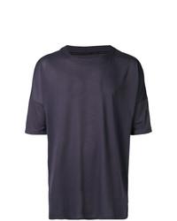 dunkellila T-Shirt mit einem Rundhalsausschnitt von Nike