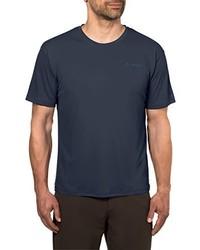 dunkellila T-Shirt mit einem Rundhalsausschnitt von VAUDE