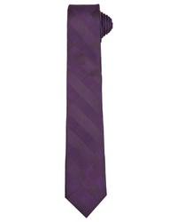 dunkellila vertikal gestreifte Krawatte von Daniel Hechter