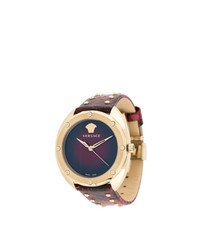 dunkellila verzierte Uhr von Versace