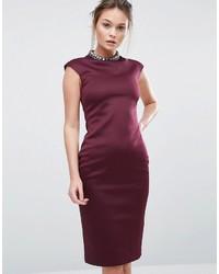 dunkellila verziertes Kleid von Ted Baker