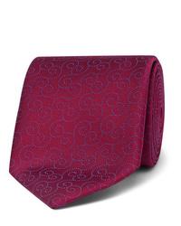 dunkelrote bedruckte Krawatte von Charvet