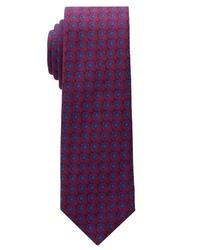 dunkelrote bedruckte Krawatte von Eterna