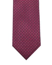 dunkelrote bedruckte Krawatte von JP1880