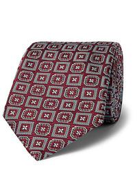 dunkelrote bedruckte Krawatte von Kingsman