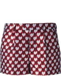 dunkelrote bedruckte Shorts von RED Valentino