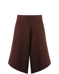 dunkelrote Bermuda-Shorts von Uma Raquel Davidowicz