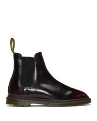 dunkelrote Chelsea Boots aus Leder von Dr. Martens