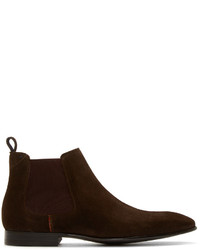 dunkelrote Chelsea Boots