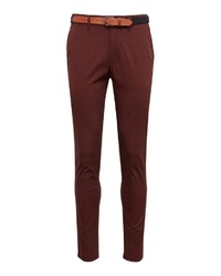 dunkelrote Chinohose von Selected Homme