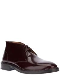 dunkelrote Chukka-Stiefel aus Leder von Kenzo