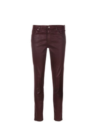 dunkelrote enge Jeans von AG Jeans