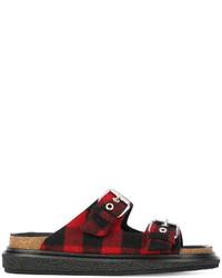dunkelrote flache Sandalen von Isabel Marant