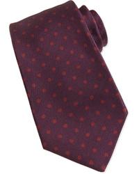 dunkelrote gepunktete Krawatte