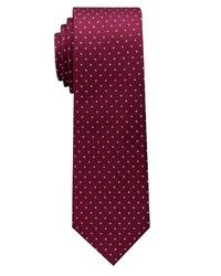dunkelrote gepunktete Krawatte von Eterna