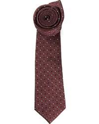 dunkelrote gepunktete Krawatte von Valentino