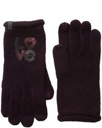 dunkelrote Handschuhe von Esprit