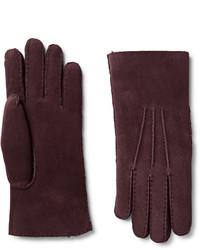 dunkelrote Handschuhe von Loro Piana