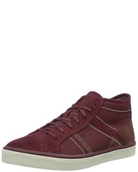 dunkelrote hohe Sneakers von Esprit