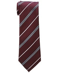 dunkelrote horizontal gestreifte Krawatte
