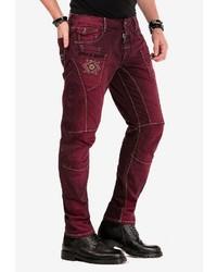 dunkelrote Jeans von Cipo & Baxx