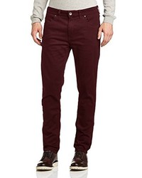 dunkelrote Jeans von Farah Vintage