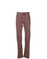 dunkelrote Jeans von Jacob Cohen