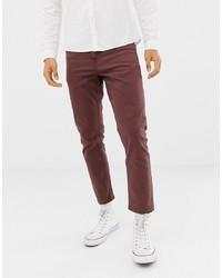 dunkelrote Jeans von New Look
