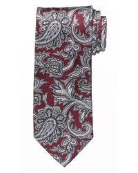 dunkelrote Krawatte mit Paisley-Muster