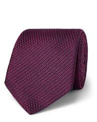 dunkelrote Krawatte von Canali