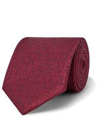 dunkelrote Krawatte von Charvet