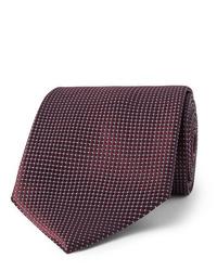 dunkelrote Krawatte von Ermenegildo Zegna