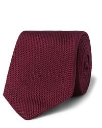 dunkelrote Krawatte von Drakes
