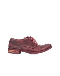 dunkelrote Leder Derby Schuhe von A Diciannoveventitre