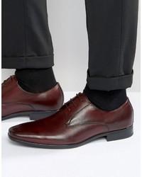 Dunkelrote Leder Derby Schuhe von Aldo