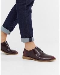 dunkelrote Leder Derby Schuhe von ASOS DESIGN