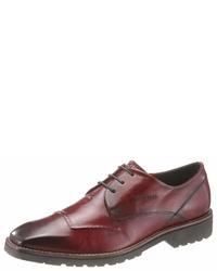 dunkelrote Leder Derby Schuhe von Daniel Hechter