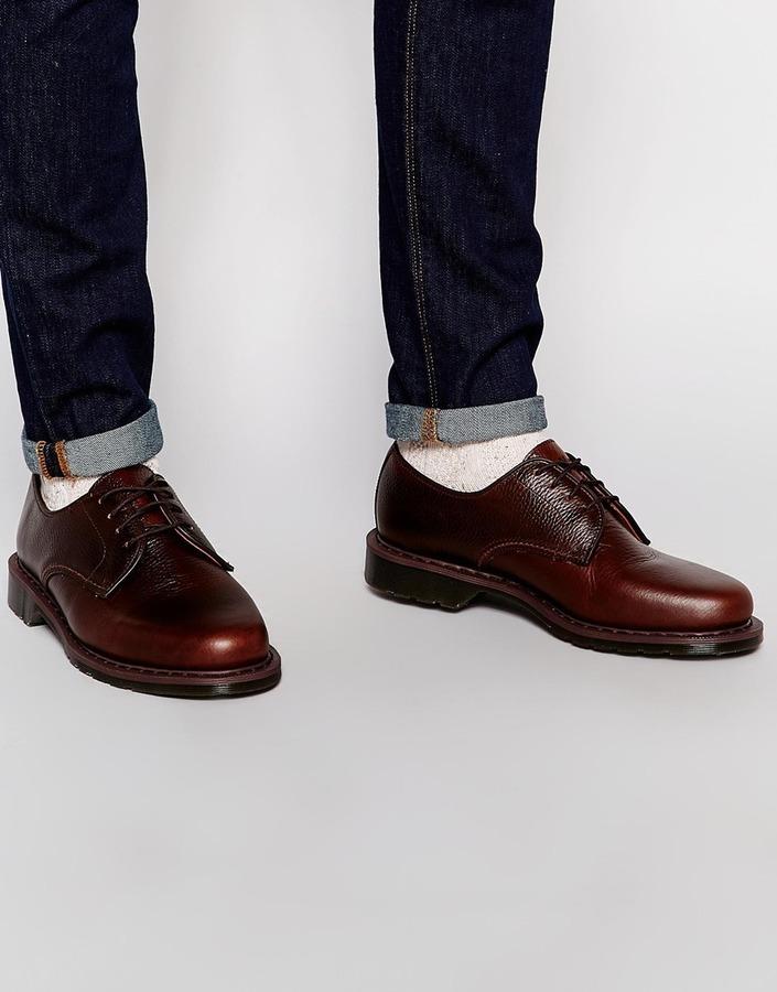 ... dunkelrote Leder Derby Schuhe von Dr. Martens ... 699d047a6b28