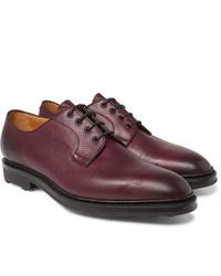 dunkelrote Leder Derby Schuhe von Edward Green